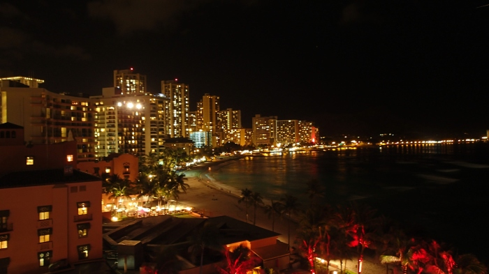 Overlooking Waikiki - nighttime