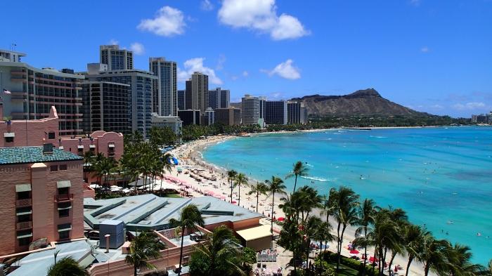 Overlooking Waikiki - daytime