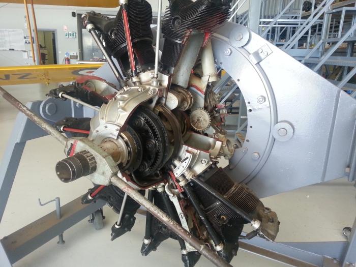 Cut away 9 cylinder radial engine