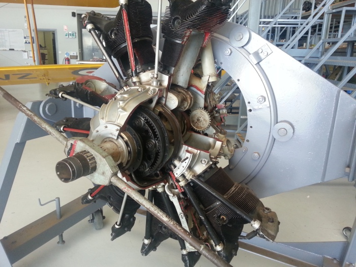 Cut away 9 cylinder radial engine