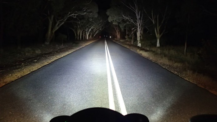 LED high beam + Hella FF50 halogen driving lights