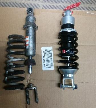 Suzuki SV650 new lowered Wilbers shock