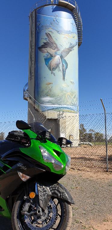 Zed14 Painted Water tank at Gulargambone