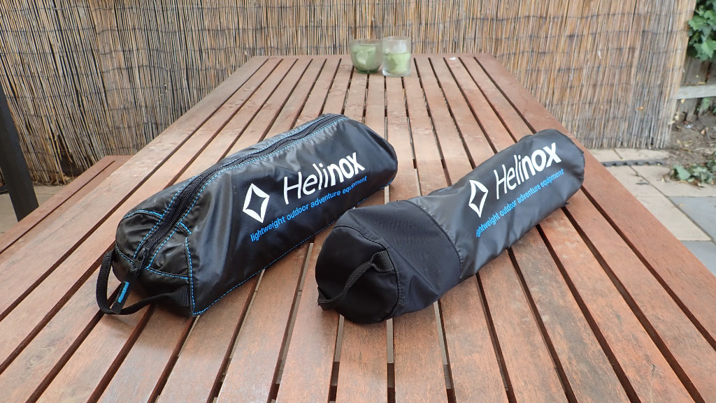 Helinox chair one and table - in bag